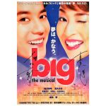 宝塚(宝塚歌劇団) ポスター big ~夢はかなう~ 真矢ミキ 唐沢寿明 サイン 1999