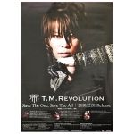 T.M.Revolution(西川貴教) ポスター 告知ポスター(Save The One, Save The All)