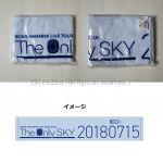 """雨宮天(trysail) 雨宮天ライブツアー2018 """"The Only SKY"""" 会場カラータオル ブルー 7月15日 横浜"""