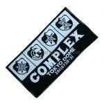 COMPLEX(コンプレックス) 東日本大震災復興支援チャリティライブ 日本一心 ブックタオル バスタオル エンブレム ブラック