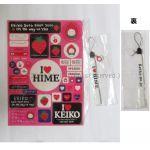 globe(グローブ) KEIKO ステッカーシート ストラップ セット on the way to you 2001